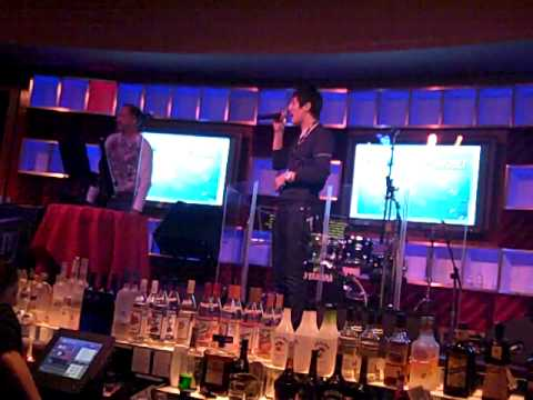 "SeleCT sings ""I believe I Can Fly"" Karaoke at IPL 3 Afterparty"