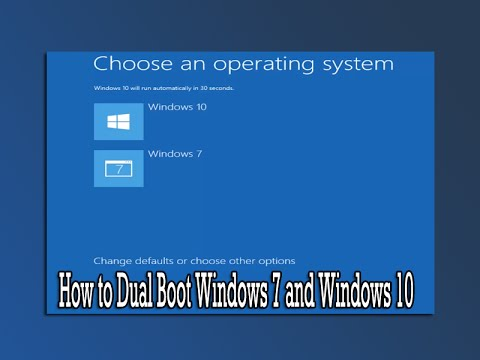 How To Dual Boot Windows 7 And Windows 10
