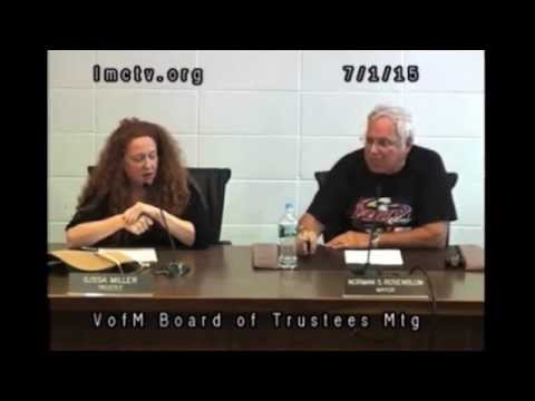 This video was released by Democrats seeking to oust Mamaroneck Mayor Norman Rosenblum. It captures spats between the Republican mayor who is up for re-election on Tuesday and Democrat Ilissa Miller, a village trustee who was re-elected last fall.