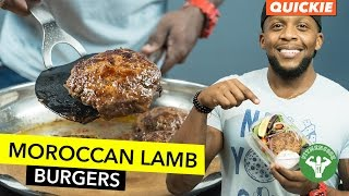 Moroccan Lamb Burger Meal Prep / Hamburguesa Marroquí de Cordero