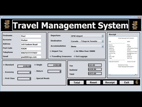 How to Create Travel Management System in Java NetBeans using Object Oriented Approach