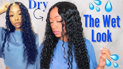 """HOW TO GET THE """"WET HAIR LOOK""""   DEFINE CURLS ALL DAY FT. Alipearl Hair Deep Wave"""