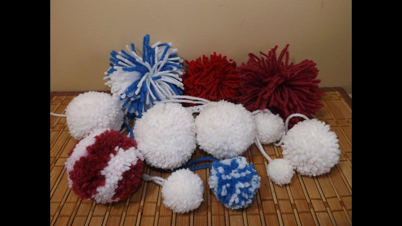 Como hacer pompones de distintas formas con ruby stedman - Como hacer pompones ...