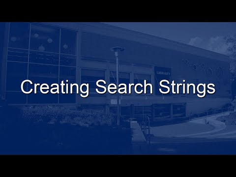 Creating Search Strings