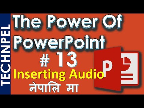 How to Insert Sound and Audio Recordings in PPT | How to Add Music into  PowerPoint Presentation