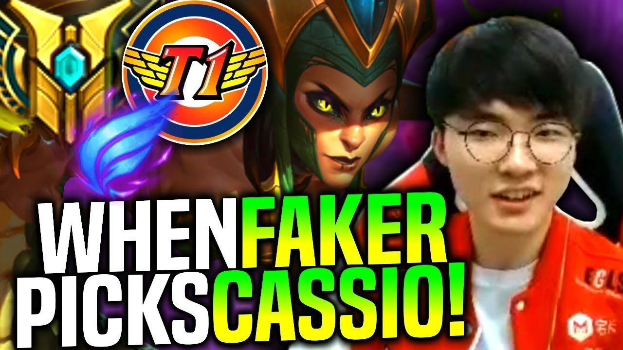 Faker is Ready to Play Cassiopeia Bot! - When Faker Picks Cassiopeia Bot! | SKT T1 Replays