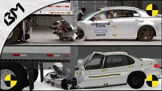 Beamng Drive Vs Real Life - Damage Crash Test Comparison - Soft Body Physics