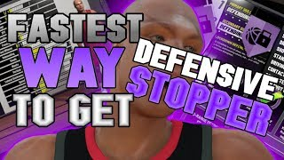 FASTEST WAY TO GET DEFENSIVE STOPPER in NBA 2K19