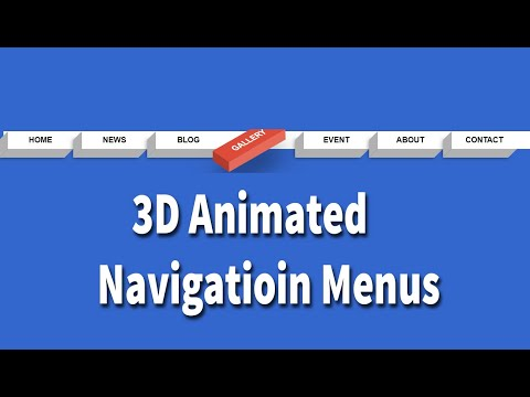 3D Animated Navigation Menus