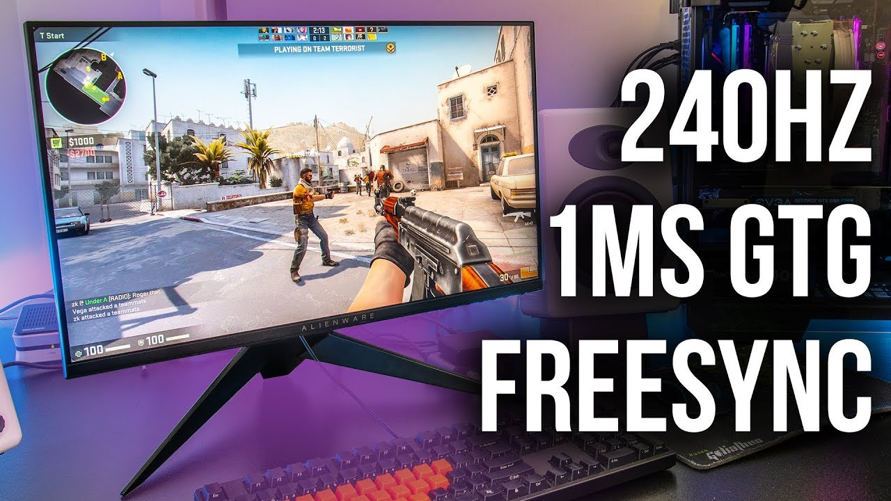 Alienware AW2518HF 240Hz Gaming Monitor Review - YouTube