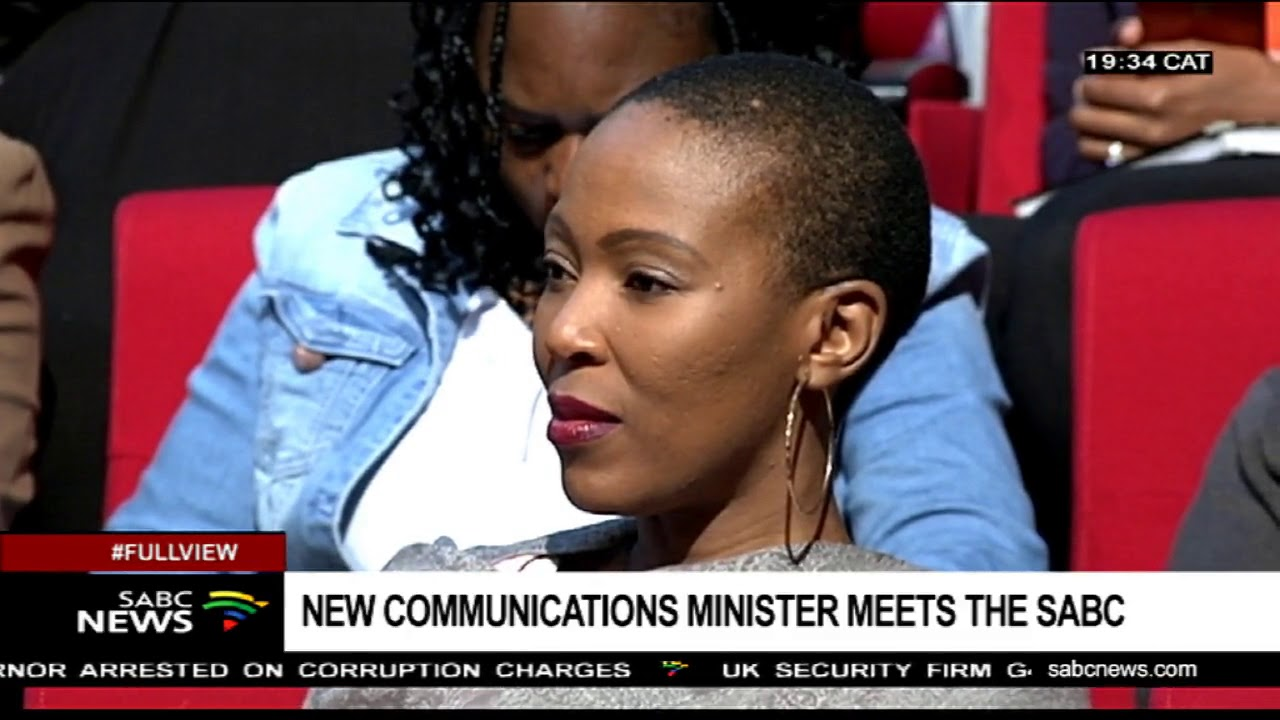New communications minister visits SABC