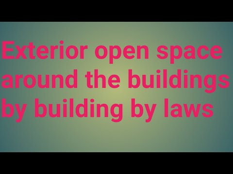 Exterior open space around the buildings as per building by laws