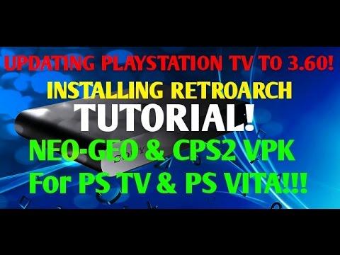 PSTV Hacks! Manually Update to 3 60 HENKAKU! Step By Step RETROARCH Guide  CPS2 & Neogeo Vpk!