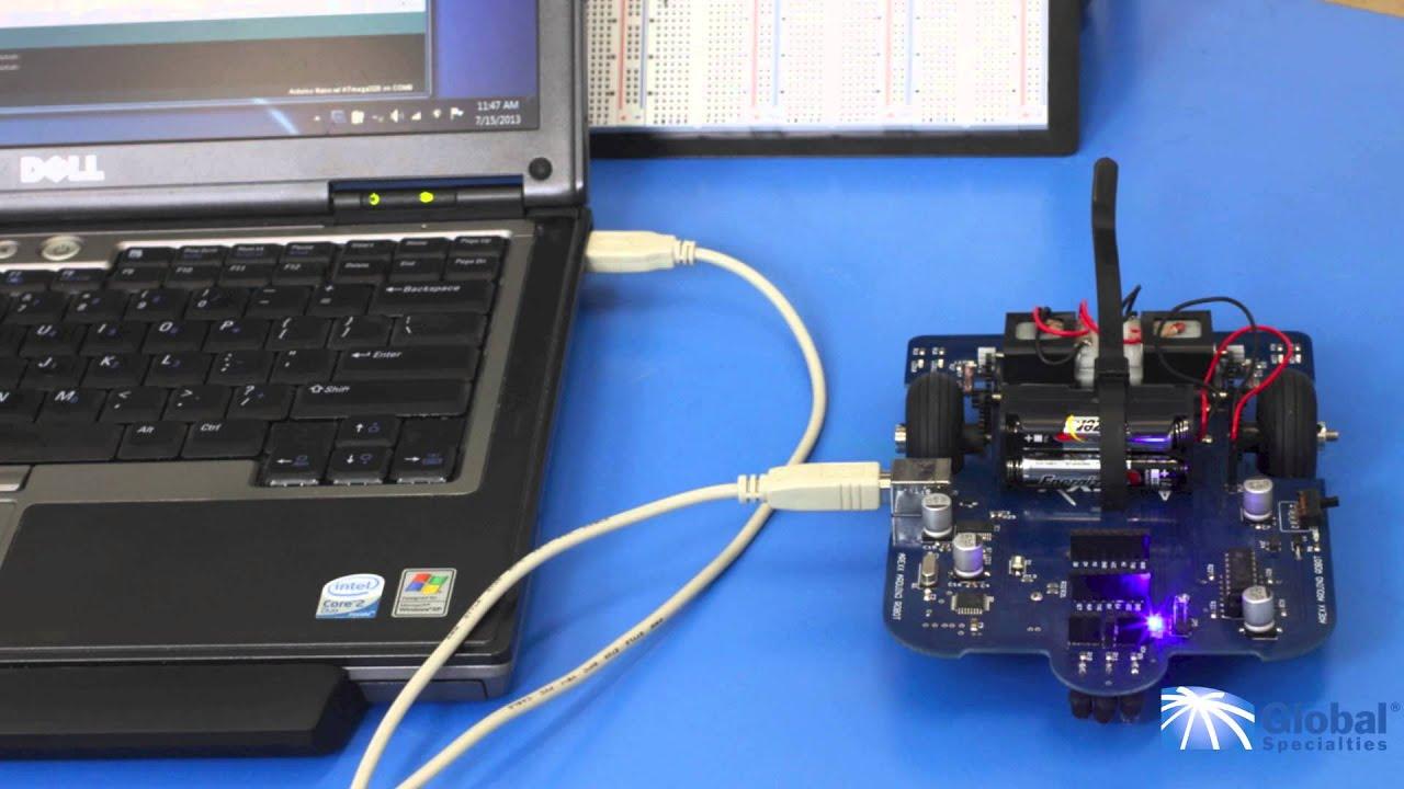 Global specialties aar arduino robot setup youtube