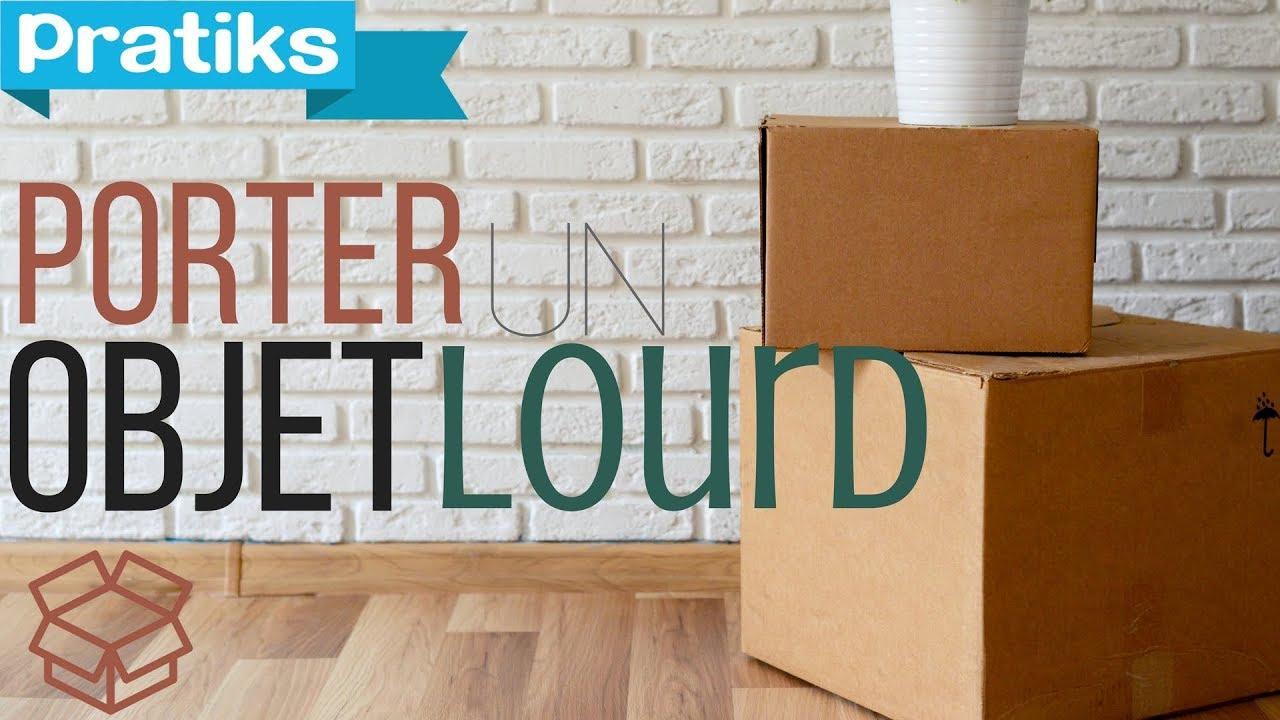 Comment Deplacer Un Meuble Lourd Sur Du Carrelage déménagement : comment porter un objet lourd ?