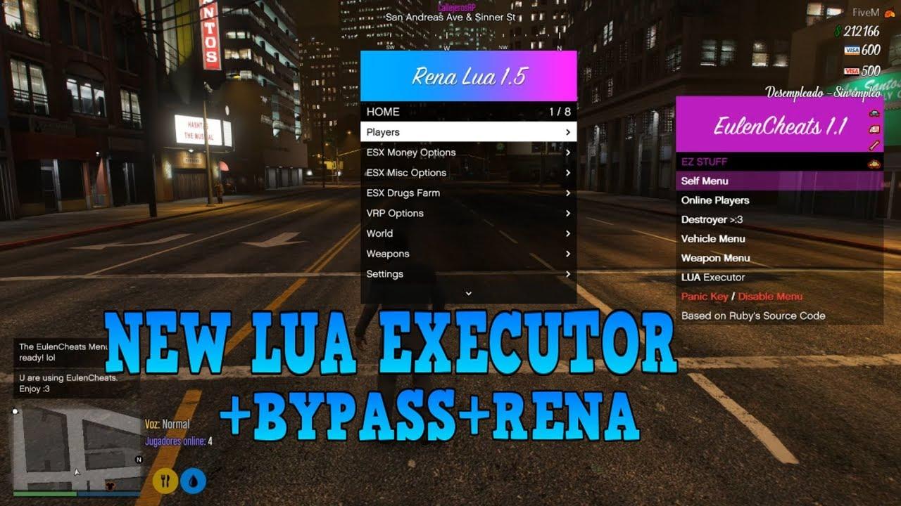 FiveM New Lua Executor+Bypass+RenaMenu+EulenC Menu+Dumper Files 31/05/2019
