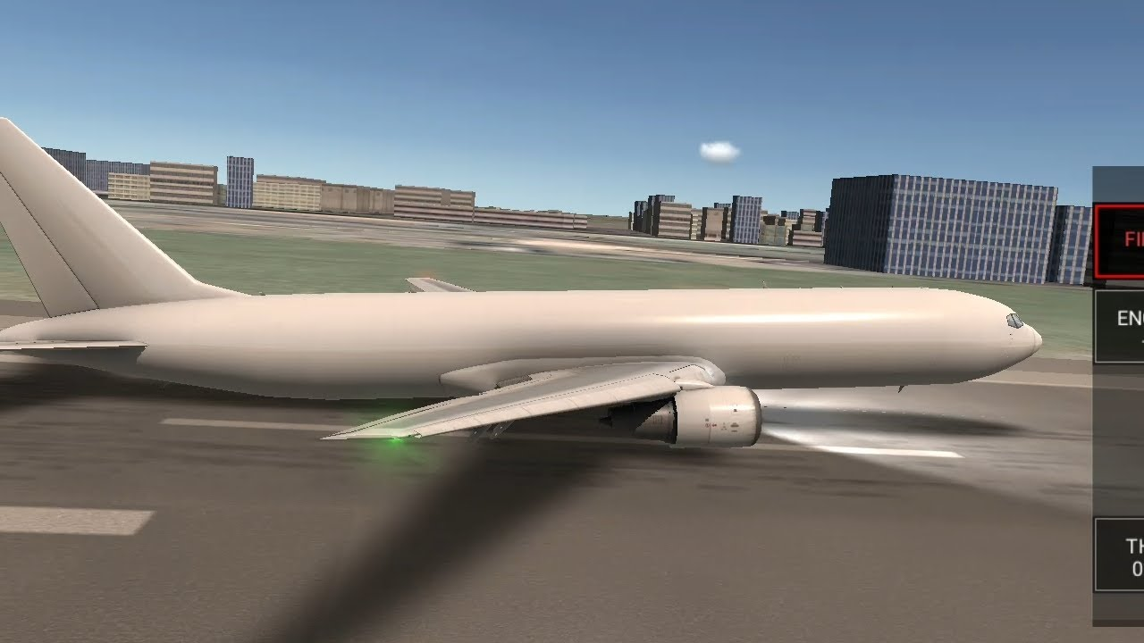B767F Landing Without Gear