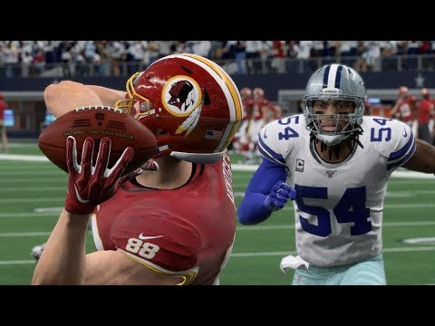 NFL Today 12/29 Dallas Cowboys Vs Washington Redskins Full Game | NFL Week 17 (Madden)