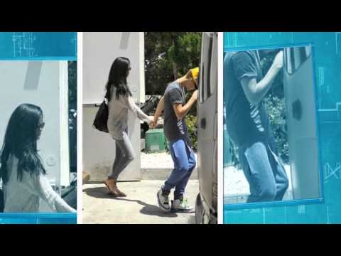 Justin Bieber & girlfriend Selena Gomez hold hands as they leave Benihana  (May 26) in  California.