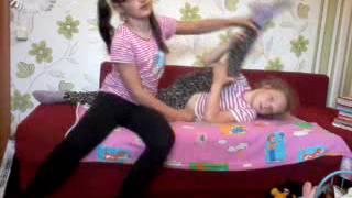 Как сесть на продольный шпагат!!! Уроки гимнастики