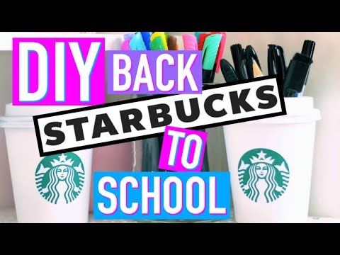 DIY (français) Back to School STARBUCKS / Fournitures Scolaires (2016)