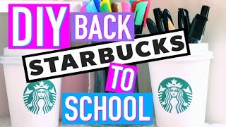 DIY Back to School Facile : Fournitures Scolaires STARBUCKS (français)