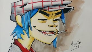 Drawing 2D from Gorillaz