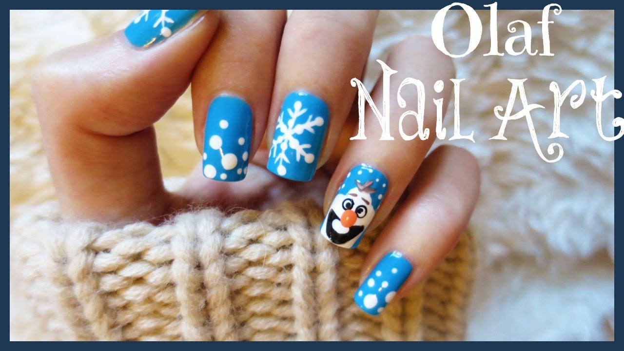 EASY Olaf Nails!!! | MissJenFABULOUS - YouTube