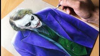 Drawing The Joker - Heath Ledger- DC - Time-lapse | Artology