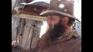 Idaho Hillbilly Homestead # 62 Making Wood Carving Tools On A Cold Winter Day