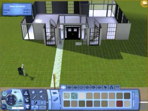 Les sims 3 construction am nagement villa partie i la construction youtube for Maison moderne de luxe sims 3