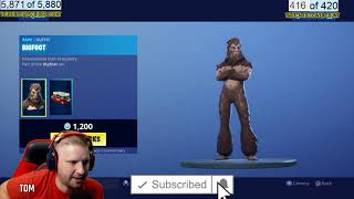 FORTNTIE NEW ITEM SHOP FORTNITE BIG FOOT SKIN IN ITEM SHOP 6/28/2109