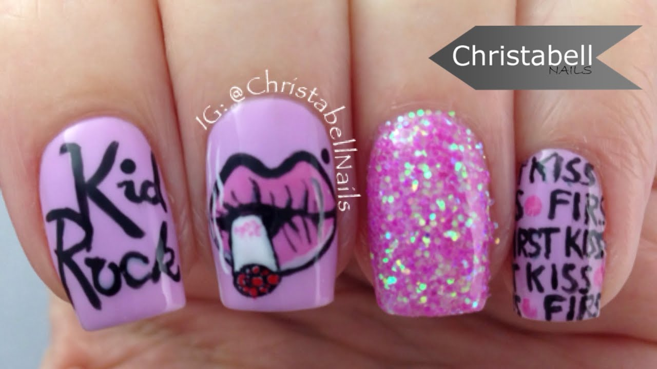 Kid rock first kiss nail art tutorial youtube prinsesfo Gallery