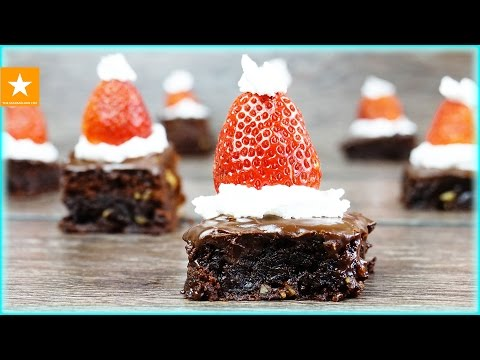 Рецепт  НОВОГОДНИЙ ДЕСЕРТ  Шоколадный БРАУНИ с украшением Рецепт без яиц от Мармеладной Лисицы