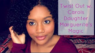 defined twist out on natural curly hair w carol s daughter marguerite s magic