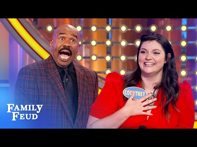 Shut up, Steve Harvey! I wanna get this over with! | Family Feud