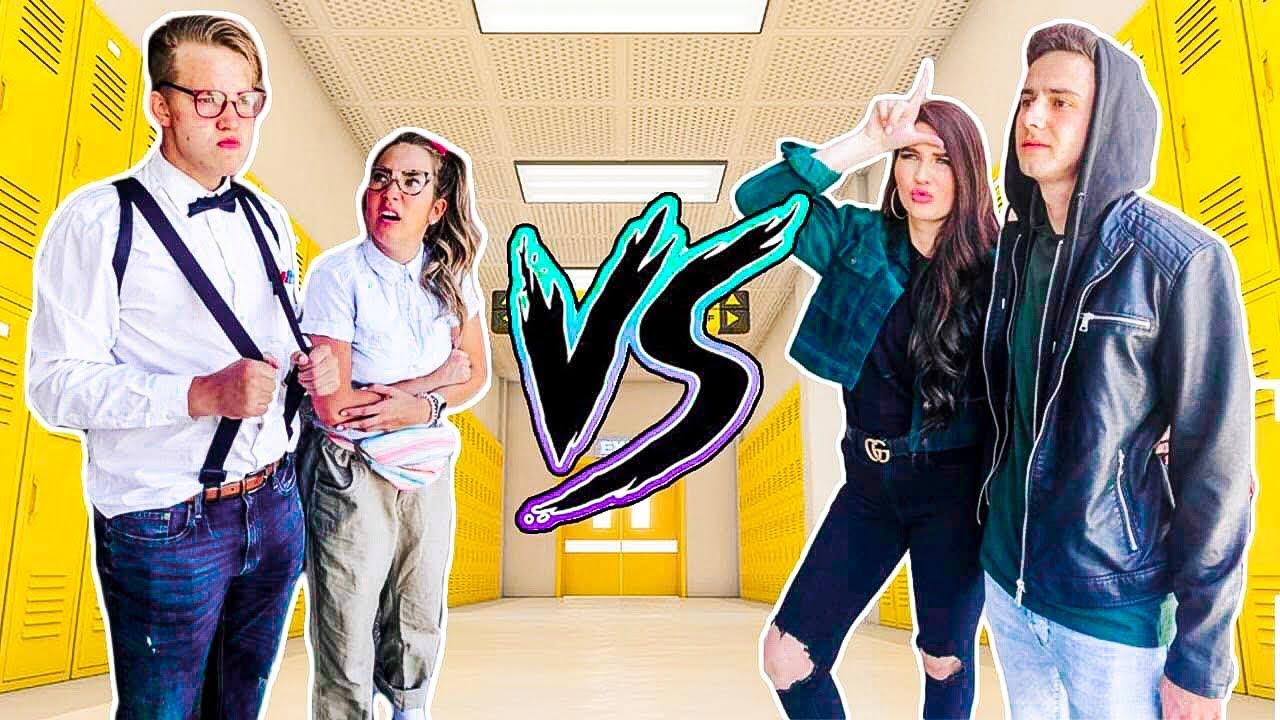 HIGH SCHOOL DANCE BATTLE- Geeks VS. Cool Kids!!