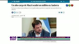 Funcionario del Gobierno con cuenta en Andorra - Staff de Noticias