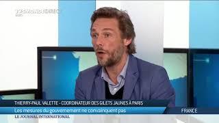 Interview de Thierry-Paul Valette, coordinateur Gilets Jaunes à Paris