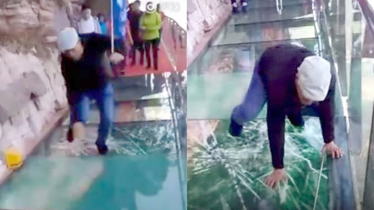 Most Dangerous Bridge In the World CRACKS Under Man And...