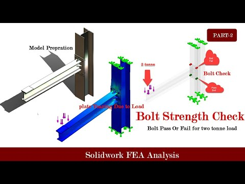 Bolt Strength check FEA simulation- Bolt Pass or Fail using solidwork simulation