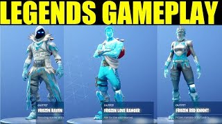 Fortnite Frozen Legends Pack Gameplay Nouveau 25.000 v-buck Christmas Skins!!