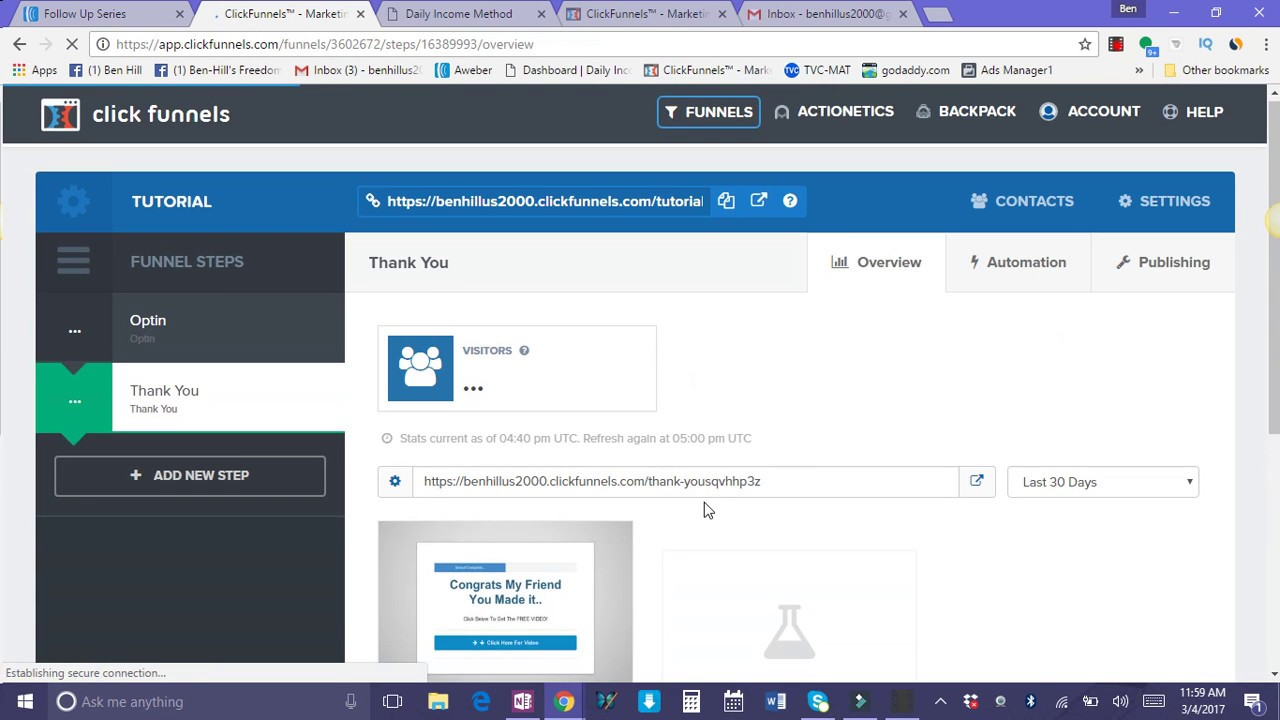 Click Funnels | Aweber Integration