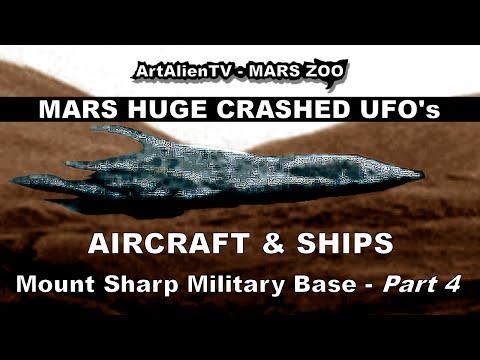 MARS HUGE CRASHED UFO's, Alien Aircraft & Ships. ArtAlienTV (PART 4)