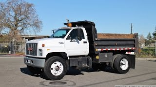 1994 GMC C7500 TopKick 5 Yard Single Axle Dump Truck