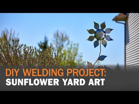 Do It Yourself: MIG Welding Sunflower Yard Art