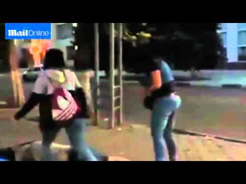 Kazakhstan woman knocks idiot out, with 1 punch.