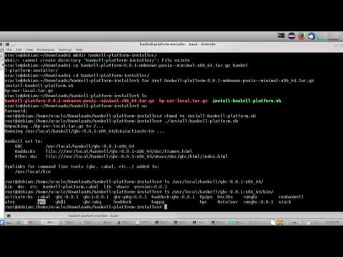 Install haskell on linux irregardless of the distribution name with cabal global to all users