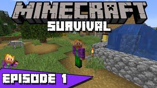 Skinnz Plays Minecraft - Ep. 1: My First House