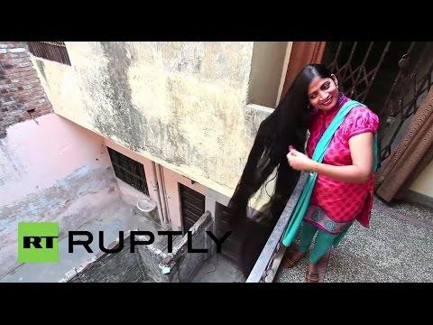 India: 7-foot-long hair could make this woman a world record holder